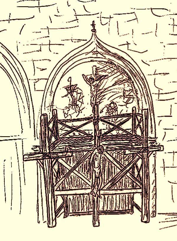 l'ange déchu, illustrations. Chapitre 16: la crucifixion