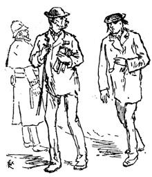 Verlaine et Rimbaud à Londres dessin de Regamey