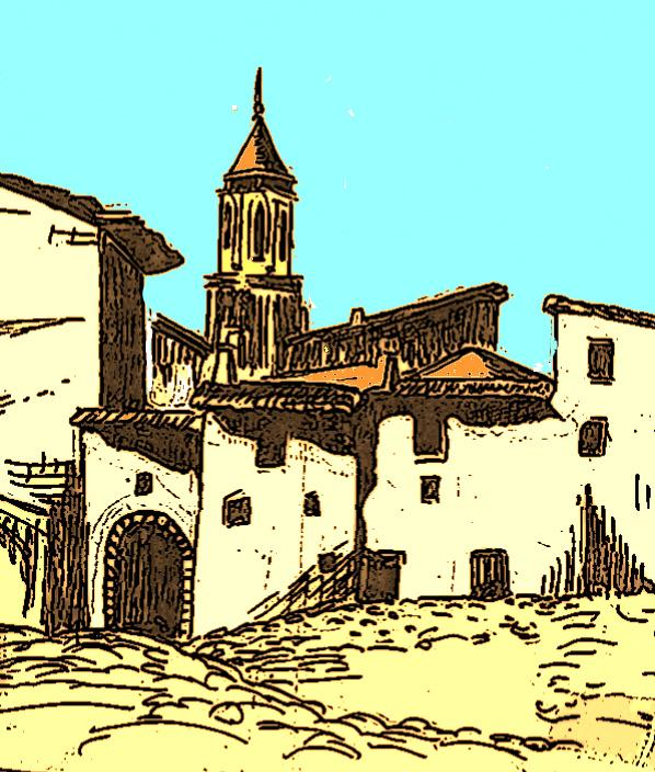 Pour Jano et son rêve de Castille : village de la Mancha.