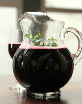 un verre de bissap