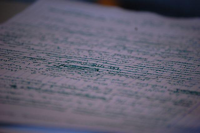 Qui écrit en vert?