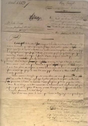 Manuscrit d'un poète