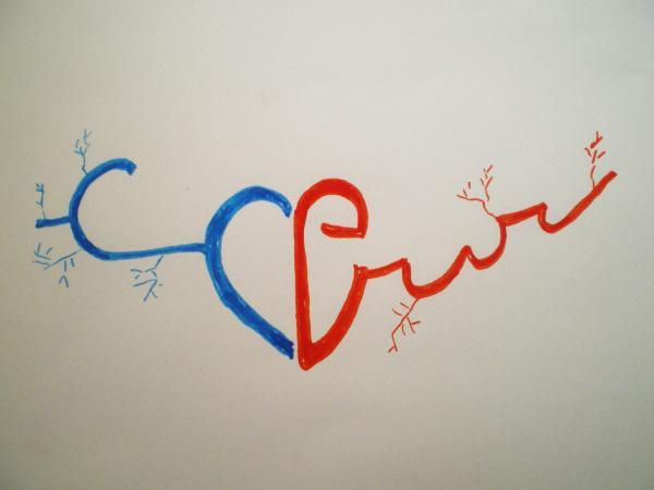 calligramme minimaliste : le coeur
