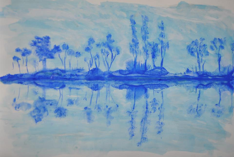 reflets bleus