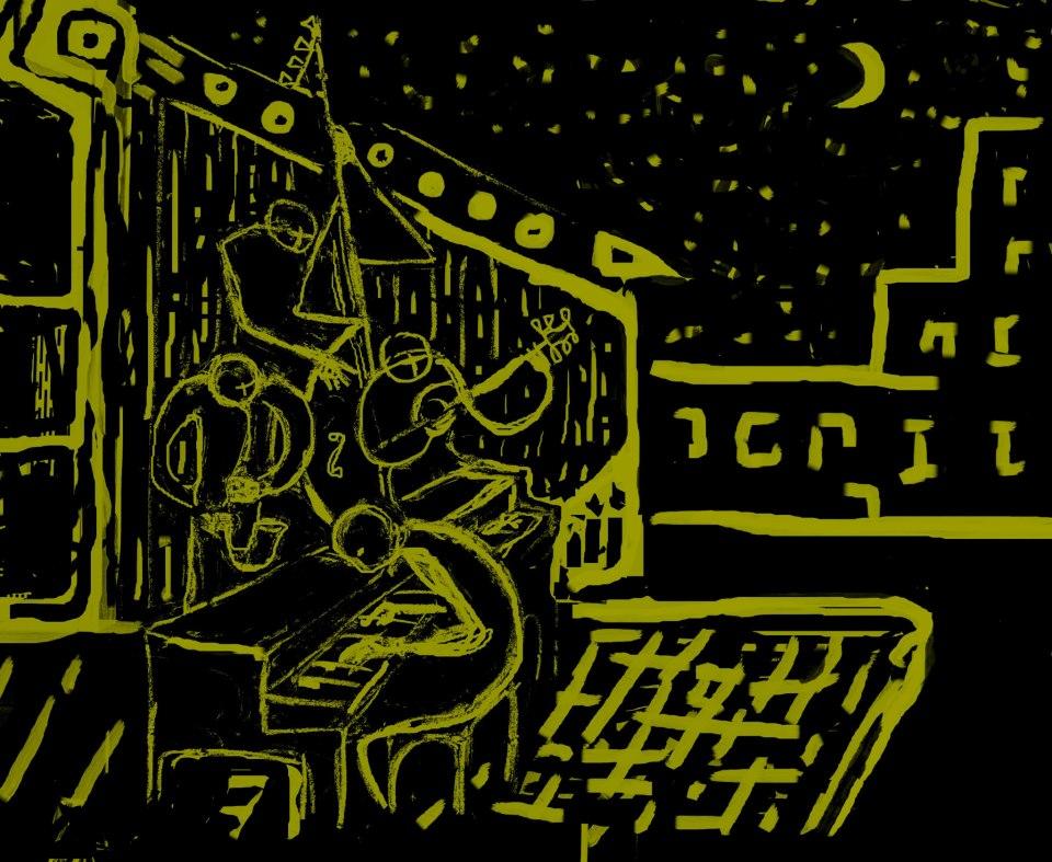 Circle jazz cube, nº6 : en négatif